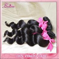 Wholesale Peruvian Virgin Hair Loose wave Mixing length 10pcs human hair extension Free Shipping Virgin Hair Weave Bundles