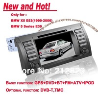 Special Car GPS Navigation cd player for BMW X5 E53 E39 with Bluetooth Stereo Radio FM IPOD