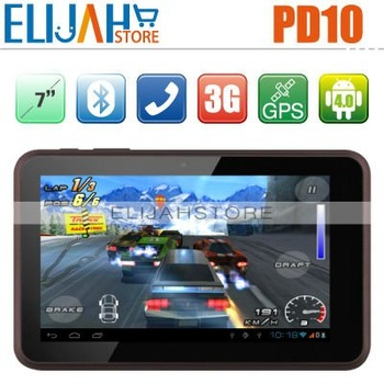 In Stock!Original FreeLander PD10 3G WCDMA 7inch android 4.0 MTK6575 1.2Ghz 1G/8G Bluetooth HDMI WIFI GPS Camera Dual SIM