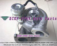 CT26B 17201-17040 Turbocharger For Toyota Coaster HDB50 HDB51 Land Cruiser 100 4AT HDJ100,1HD-FTE 1HD HDJ80 1998-07 4.2L 204HP