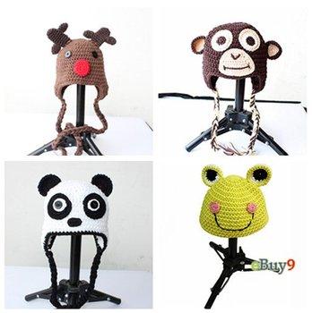 Newborn Toddler Baby Ape Monkey /owl /Reindeer /Frog/Panda Hat Beanie Crochet Handmade Cap Free shipping