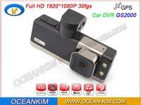 Original Latest version G2000 Car DVR Camera with GPS logger Full HD1920*1080P 30fps H.264 G-sensor 120 Degree Amberalla CPU
