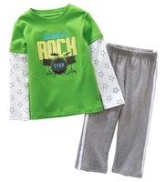 Excellent Quality Girl's Long-sleeved T-shirt Set Boy's Cartoon Long Tee Clothing Set, 5 Sizes/lot - CMLS22/CMLS29/CMLS35/CMLS41