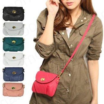 Women's Mini Purses Bag Ziper Hasp Clutch Bags Casual Multi-color PU Leather Shoulder Cross Toes 7 Colors Availabe J*35CB509#M6
