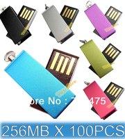 100pcs 256MB USB Memory Flash Drives 256MB Thumb Stick USB2.0 Flash Drive  6 Colors for Choices