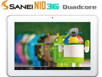 New Arrivals 10.1 Inch Sanei N10 3G  WCDMA Quad Core Tablet PC QUALCOMM MSM8625Q 1GB RAM 4GB ROM Android 4.1 GPS HDMI