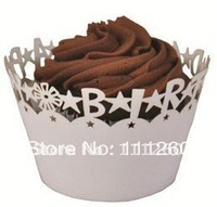 Free shipping Birthday Laser-cut Fancy Cupcake Wrappers Party Cupcake Collars -each color 480pcs/lot LPH0005