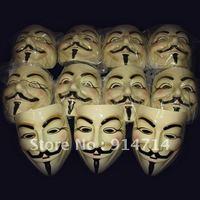100 pcs/lot Quality YELLOW Plastic Guy fawkes Vendetta Mask