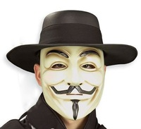 V For Vendetta Deluxe Cape,& Wig, Mask, Hat  4 Pcs Combo/Set for  Guy Fawkes Anonymous/ Party / Halloween Cosplay Free Shipping