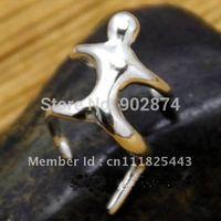 2pcs Ear Stud Ear Cuff 925 Sterling Silve Ear Clips climbing man Cartilage Wraps Clip Non-pierced Earrings jewelry 5#