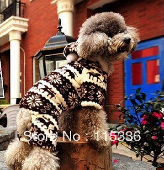 FREE SHIPPING christmas 2013 New Winter Spring Hot Sale Fashion outfit dog cloth(China (Mainland))