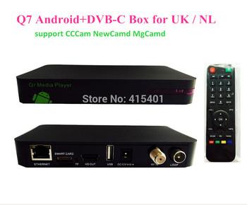 Free shipping to NL / UK DVB-C Q5 TV cable box  upgrade to Q7 Android+DVB-C HD Box
