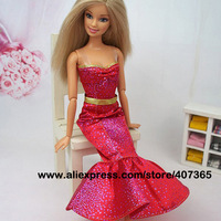(3 off 13 usd) Fashion Evening Dress Party  Clothes Outfit Gown Skirt  for Barbie Doll