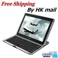 Free Shipping Aluminum Wireless Bluetooth Keyboard Stand Cover Case For Samsung Galaxy Note 10.1 N8000 N8010 N8013