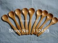 Wooden Spoon Honey Baby Spoon rice scoop/meal spoon/ BAMBOO SCOOP Wooden spoon 100pcs 13*3cm Factory direct selling