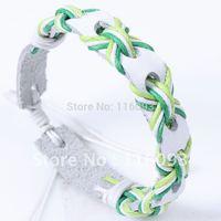 Girl bracelet  braided genuine leather bracelet women woven bracelet