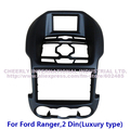 2 Din Car Audio Panel, Dashboard Kit, Stereo Frame,Fascia Adaptor, DVD Kit for Ford 2013 Ranger, 2 Din (Luxury type)-Black