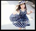 new year dresses for girls peppa pig summer lace dress for baby   2color In stock  dot  Girl clothe 5pcs/lot   Free shipping
