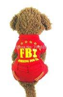 NEW FBI Design Pet Dog Fleece Four-legs Jumpsuit Tracksuit Overalls Working Dog US Prints Small Dogs Winter Clothes S M L XL
