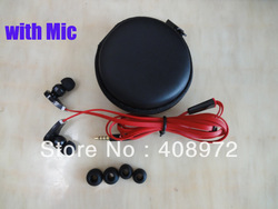 Best Noise Cancelling 3.5mm high quality headphone earphone with mic in storage case for iphone 3 iphone 4 4s(China (Mainland))