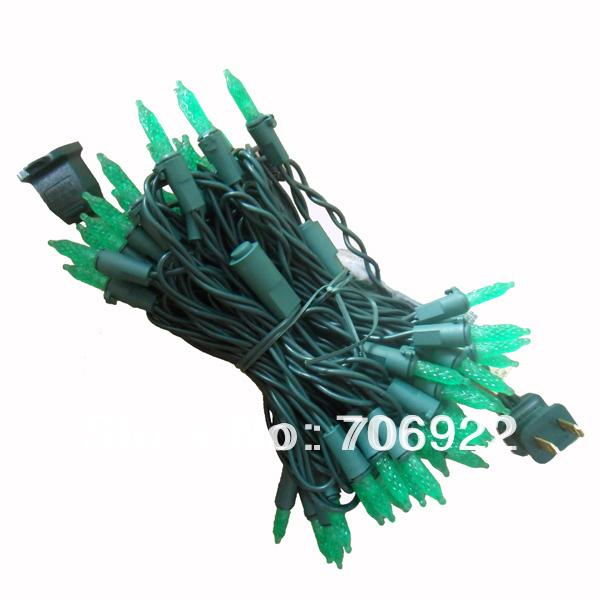 Holiday Sale Free Shipping 30 PCS UL 110V 7M 70L Green Christmas Tree M5 LED Icicle Lights(China (Mainland))