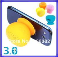 Portable MiNI Mushroom Silicone Sucker Waterproof Bluetooth 3.0 Wireless Stereo Speaker Handsfree Microphone Car Phone