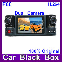 "2014 Newest Dual Lens car dvr GS501280x720 30fp 5M CMOS 2.7""TFT 16:9+SOS+Night Vision+H.264 car black box"