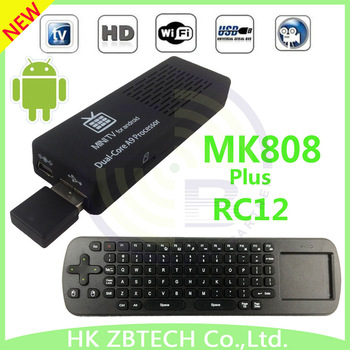 mk 808 tvpad+ Air Fly Mouse RC12 mk808 tv box android A9 Dual Core RAM:1GB ROM:8GB RK3066 Mini PC Google TV box