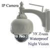 free shipping PTZ Wireless IP WaterProof Outdoor IP cctv camera 3X Optical Zoom IR-Cut CCTV Network CAM0153