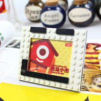 Latest design of photo frame educational building block photo frame  for children  29pcs