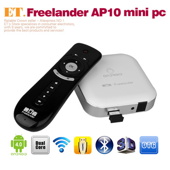 Freelander AP10 mini pc Android 4.0 google TV box RK3066 Dual Core 1.6Ghz 4GB ROM HDMI 1080P Bluetooth with 2.4Ghz air mouse