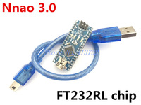 Free shipping Nano 3.0 Atmel ATmega328 Mini-USB Board with USB Cable 100% for arduino new in stock