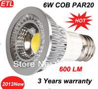 E27 E26 GU10 COB light Par20 LED Lamp Bulb 6W Warm/Cool White Replace 70W Halogen 80 Degrees