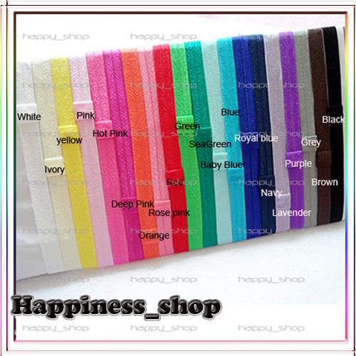 Free Shipping Wholesale 240pcs/lot elastic Baby Elastic headbands for baby girls FOE fold over Shimmer Satin hair accessory(China (Mainland))