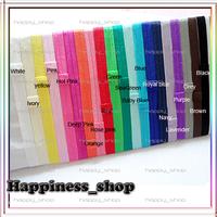 Free Shipping Wholesale 240pcs/lot elastic Baby Elastic headbands for baby girls FOE fold over Shimmer Satin hair accessory