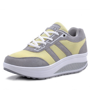Hot Selling New 2014 Fashion Genuine Leather Running Shoes Sneakers Women Sport Shoes