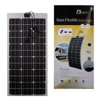 Wholesale 75W Monocrystalline semi flexible solar panel,Factory direclty,fast ship