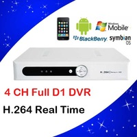 H.264 4 channel CCTV dvr recorder 1ch audio RS485 iphone mobile phone network surveillance home video dvr recorder