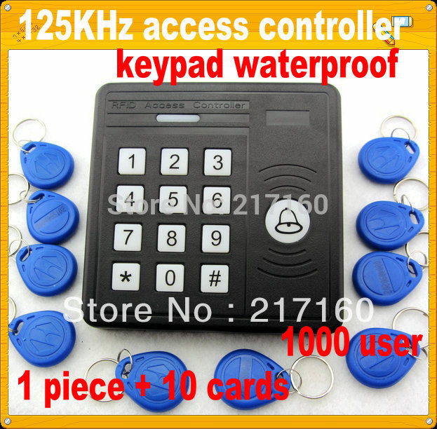 free shipping RFID Proximity access control systems+10 pieces EM card +fre