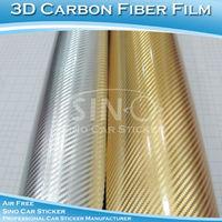 30cmx152cm Free Shipping Chrome 3D Carbon Fiber Vinyl Film