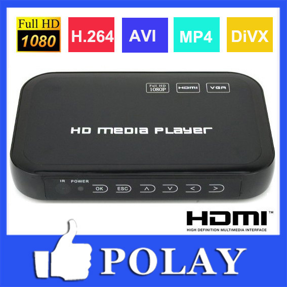 1080p full hd hdd media player ingresso sd/usb/uscita hdd hdmi/AV/VGA/av/YPbPr supporto divx avi avi mp4 h. 264 flv avi di film musicali