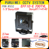 Free shipping!!!Special offer effio 700tvl pinhole hidden cctv camera with OSD Menu.
