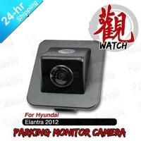 Free Shipping Wired HD CCD Car Parking Reversing Backup Rearview Camera for Hyundai Elantra 2012 etc. Night Vision Waterproof