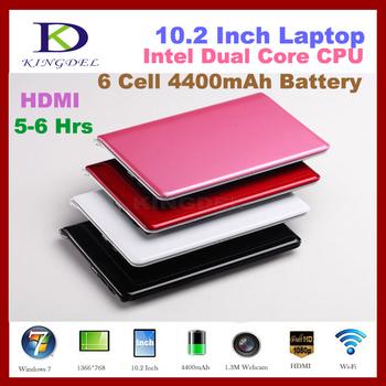 Cheapest latest 10 Inch Netbook Mini Laptop Intel Atom N2600 Dual Core 2GB RAM,160GB HDD, VGA, HDMI, 6 cell 4400MAH Battery