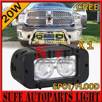 Free Shipping IP68 USA CREE LED 5'' 2pcs*10W 20W LED Offroad Light bar LED Light bar for SUV ATV Truck 4X4 LED Work Light Bar