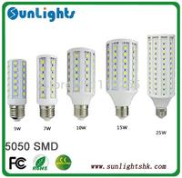 165 102 86 60 44 36 LED SMD 5050 30W 20W 15W 12W 9W 6W E27 E14 B22 corn light Lamp Warm Cold White 220V /110v bulb