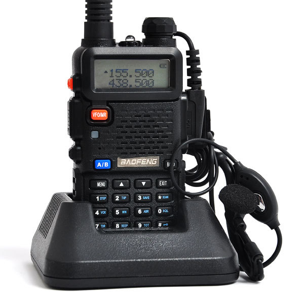 Walkie Talkie 5W 128CH Two-Way Radio UHF&VHF BaoFeng UV-5R Transceiver Portable Radio A0850A Free Headphone(China (Mainland))