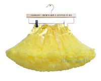 Fashion yellow baby girls  fluffy chiffon skirts princess tutu pettiskirts Christmas Halloween Dance party wear Free shipping