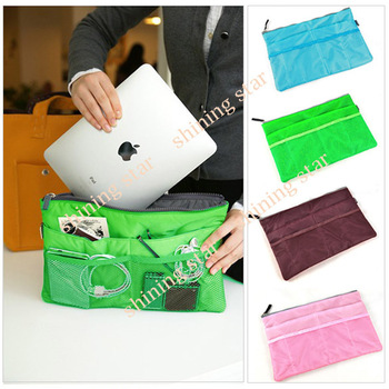 Free Shipping cosmetic pouch storage mobilephone ipad bag  Handbag Purse Insert bag Organizer 5314
