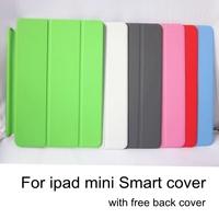 Official Case For Apple ipad mini smart cover For ipadmini retina case Leather cases For ipadmini2 original covers 2pcs/lot